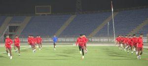 नेपाल र इन्डोनेसियाको मैत्रीपूर्ण खेल खेल्दै