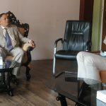 शिक्षा, विज्ञान तथा प्रविधिमन्त्री देवेन्द्र पौडेल र युनिस्को नेपाल प्रमुख माइकल क्राफ्टबीच भेटवार्ता